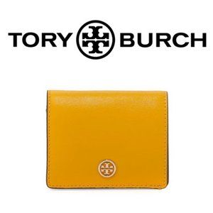 EUC Tory Burch Parker Foldable Mini Wallet Yellow
